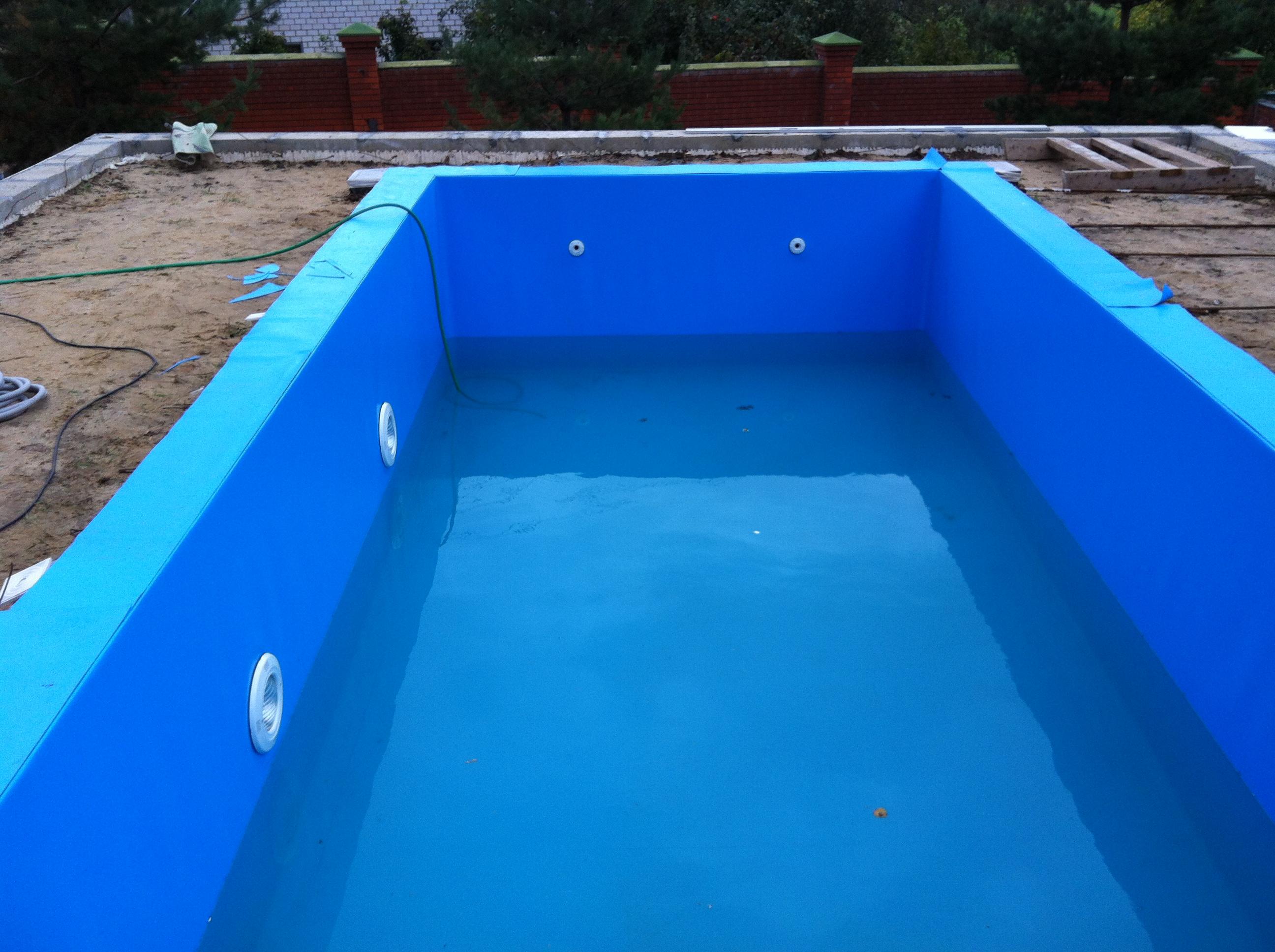 Плёнка для бассейна установка своими руками